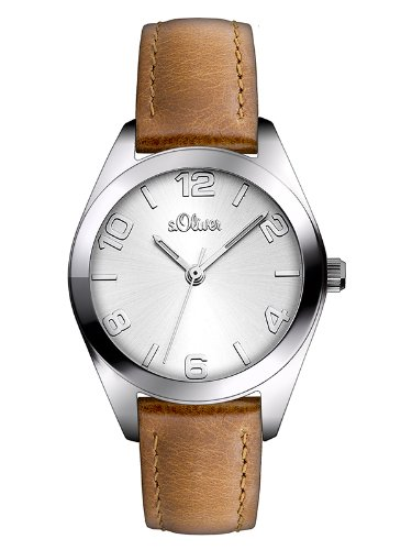 s.Oliver Women's Quartz Watch SO-2771-LQ with Leather Strap
