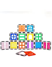 PicassoTiles 30 Piece Window and Door Clip On Magnetic Blocks Magnet Tiles Magnets Building Tile Construction Toy Set STEM Education Toys Learning Kit Stacking Block Playset Boys & Girls Age 3+ PT30