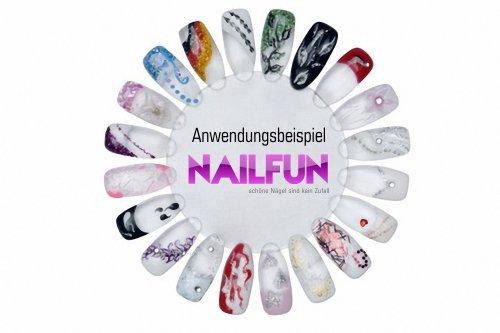 Ruedas para muestra artística de uñas de NAILFUN con 20 puntas: Amazon.es: Belleza