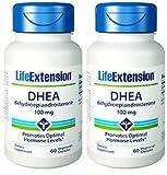 Life Extension DHEA 100 Mg, 60 vegetarian caps (120 caps)