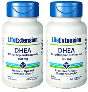 Life Extension DHEA 100 Mg, 60 vegetarian caps (120 caps)