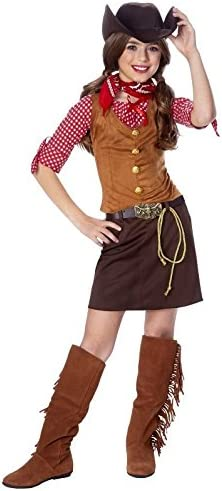 Amazon Com Kids Western Cowgirl Outfit Girls Halloween Costume L Girls Large 12 14 Toys Games