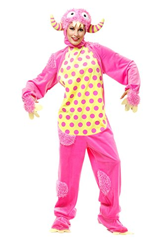 Charades Unisex-Adult's Mini Monster, Pink,