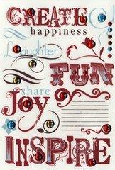 Durham Gotta Buy Basics Say The Word Rub-Ons and Rhinestones, Create Happiness