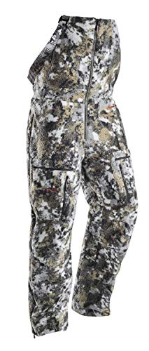 SITKA Gear Women's Hunting Cold Weather Insulated Full Zip Camo Whitetail Elevated II Fanatic Bib Pant, Large