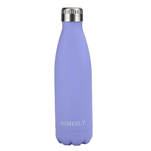 AOMERLY Insulated Water Bottle, Double Wall Vacuum Stainless Steel Water Bottle, S'well Cola Shape, No sweating, BPA Free, Keeps Cold & Hot 25oz 17oz