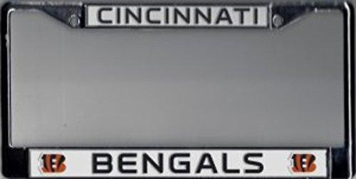 Rico Industries Cincinnati Bengals Chrome License Plate Frame Cincinnati Bengals License Plate Frame