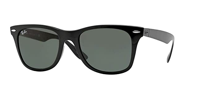 9bcdd714346 Ray-Ban RB4195 WAYFARER LITEFORCE 601 71 52M Black Green Sunglasses For Men