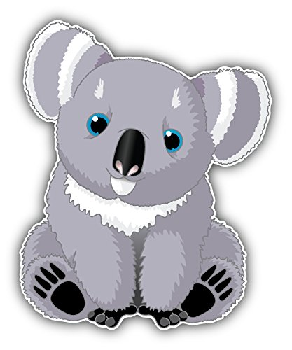Walls Trucks size: 5 color: BRIGHT WHITE Windows KOALA BEAR HEAD cute bear Vinyl Decal Window Sticker for Cars and other stuff. Laptops