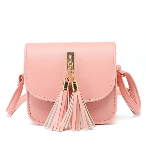 Women Purse Tassel Bag Handbag Fashion Pink Ladies Shoulder Tote KIMODO Large dqzOd