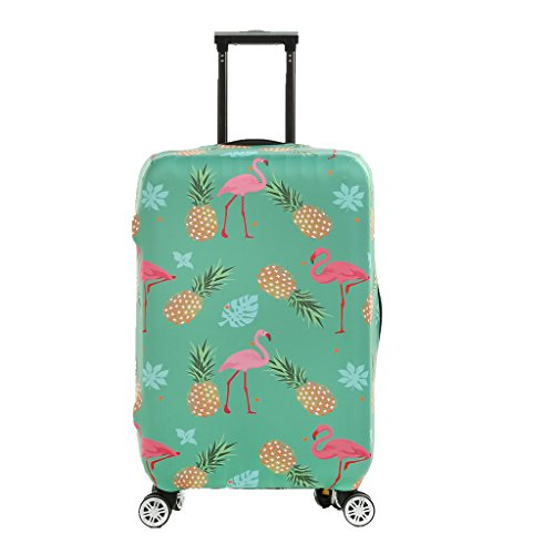 Fvstar Washable Flamingos Luggage Cover Luggage Protector Spandex Suitcase Cover Travel Baggage Covers for Christmas Thanksgiving Gifts