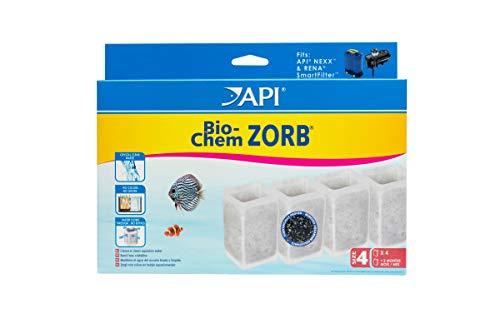 API Crystal Bio-Chem Zorb Size 4 Aquarium Filtration Media Cartridges for Nexx Filters 4Count Box
