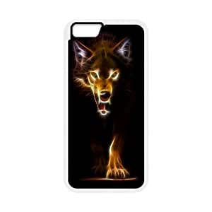 "Custom Colorful Case for Iphone6 Plus 5.5"", Fire Wolf Cover Case - HL-R662813"