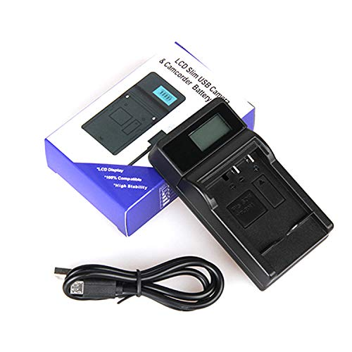 LCD USB Travel Battery Charger for Sony Cybershot DSC-HX1, DSC-HX100V, DSC-HX200V Digital Camera