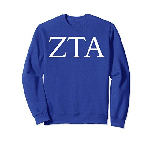 Alpha Pullover - Unisex Zeta Tau Alpha Sweatshirt College Sorority Fraternity Medium Royal Blue
