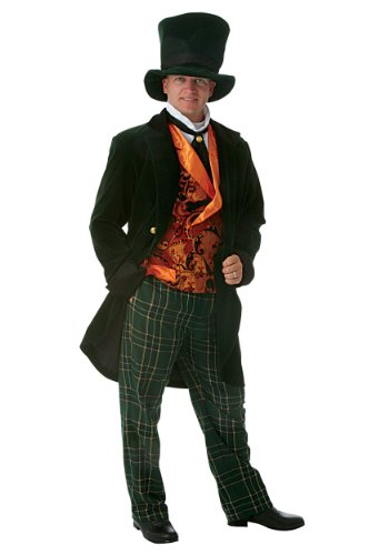 Fun Costumes Men's Deluxe Mad Hatter Alice in Wonderland - L -