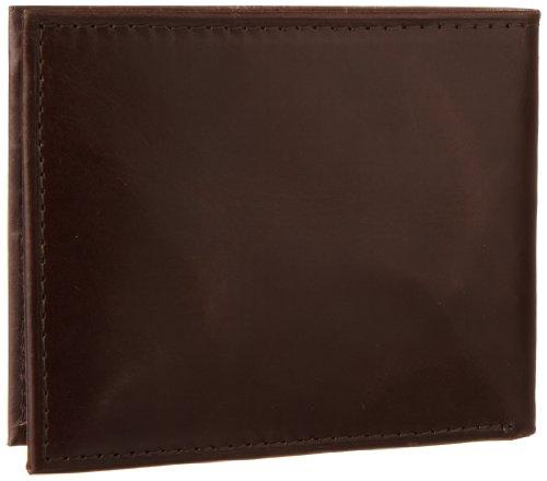 Guess Men's Fresno Passcase Wallet, Brown, One Size