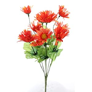 Bundle of Stunning Asters Bursting in Vibrant, Variegated Orange for Spring Decor, Weddings, and Home- Package of 6 Bouquets 19