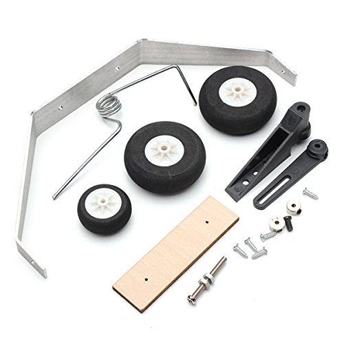 Quickbuying Aluminum Alloy Taildragger Tricycle Landing Gear w/Steering Tail Wheel For RC Airplane Spare Parts