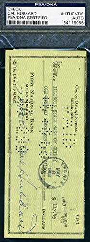CAL HUBBARD PSA DNA Coa Autograph 1963 Check Hand Signed Authentic