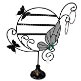 "Earring Display Stand- Butterfly - Black Metal Wire - 13"" x 16"""
