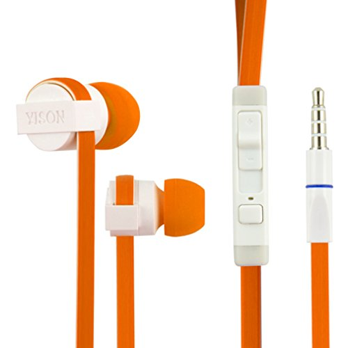 GranVela CX390 High Performance In-Ear Headphones with Microphone 3.5mm jack for iPhone 6, 6 Plus, 5S, 5C, 5, 4S, 4 / iPad 4, 3, 2,1, Mini, Air / iPod Touch, Nano, Shuffle, Classic / Samsung Galaxy S5, S4,S3, Note 4, Note 3, Note 2 / Other Android Smartphones - Motorola, Google Nexus, HTC, Sony, Nokia / Tablets & MP3,MP4 Players--Orange