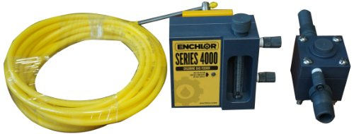 """Enchlor FLEX-100-010 Chlorine Gas Flexible Connector Assembly with Adaptor Nuts on Both Ends, 10' Length, 3/4"""" FSPT Connection"""