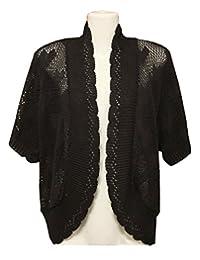 Rimi Hanger Womens Long Sleeve Crochet Heart Knitted Cardigan US 12-28