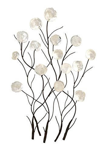- Benzara 13063 Metal Capiz Wall Decor