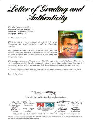 Muhammad Ali Autographed Sports Illustrated Magazine Gem Mint 10 Vintage #E50980 PSA/DNA Certified