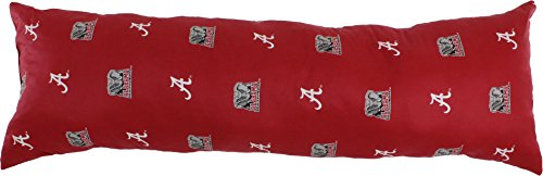 "College Covers Alabama Crimson Tide Printed Body Pillow - 20"" x 60"""