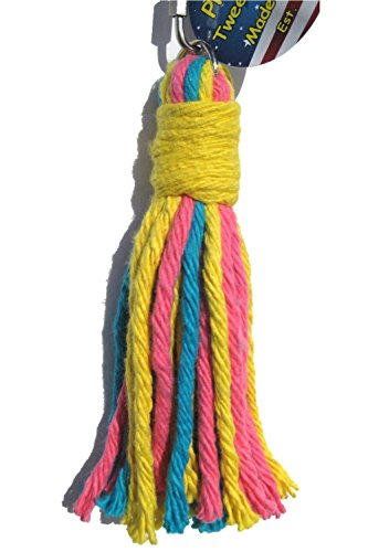 Platinum Tweeter Weave Bird Toy - Perfect Cage Toy for Playing & Preening - Colorful, Safe, Cotton Rope - Great for Small to Medium Sized Birds - Fully Engaging Activity for Your Bird