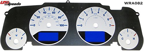 US Speedo WRA 082 - Daytona Edition Gauge Face - Silver / Blue Night - 100 MPH 4Ga, 1 Or 2 Window - for: Jeep Wrangler 07-14 JK Rubicon and Sahara and Sport