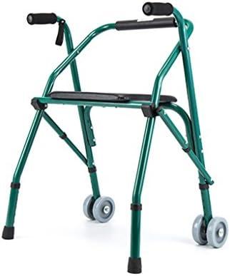 HJHY® ayudas para caminar, los ancianos andador plegable con el ...
