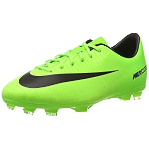 Nike Kids Jr Mercurial Victory VI Fg Soccer Cleat 3.5 / Electric Green