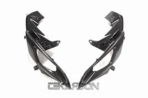 Tekarbon, Carbon Fiber Air Ram Intake Covers, for Suzuki GSXR 600/750 (2006-2007), 2x2 Twill Weave