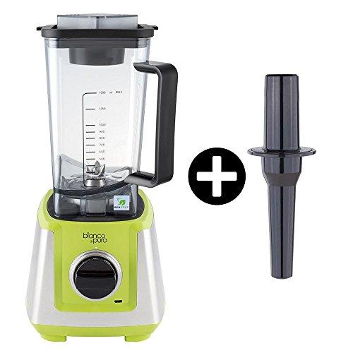Bianco di puro pri-gr primo grün Hochleistungs-Mixer/Standmixer + Stampfer (Smoothie Maker mit 28000 Umdrehungen/min. 1200 Watt)