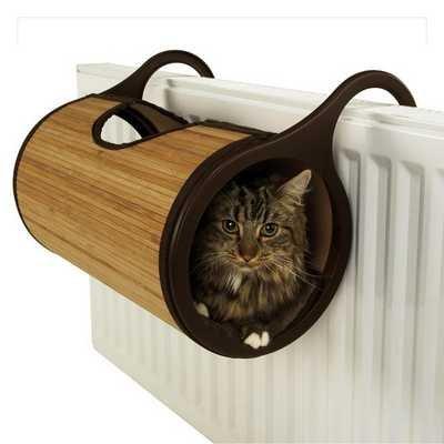 pet-essentials Palisandro Jolly Moggy bambú natural Cama de Radiador (ecológica embalaje)