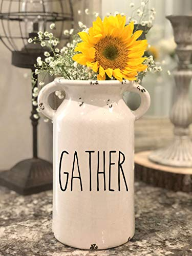 - Rae Dunn Inspired Farmhouse Milk Jug - Personalized Milk Can - Farmhouse Milk Can Personalized Ceramic Milk Can Farmhouse Style Ceramic Vase