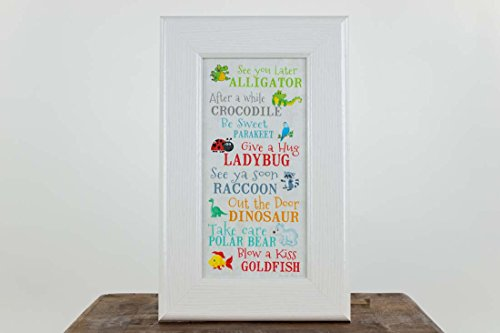See You Later Alligator After Awhile Crocodile Children's Framed Art Picture 10x16