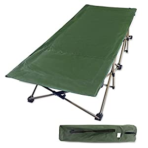 REDCAMP Folding Camping Cots for Adults Heavy Duty, 28″ Extra Wide Sturdy Portable Sleeping Cot for Camp Office Use, Blue Gray Green