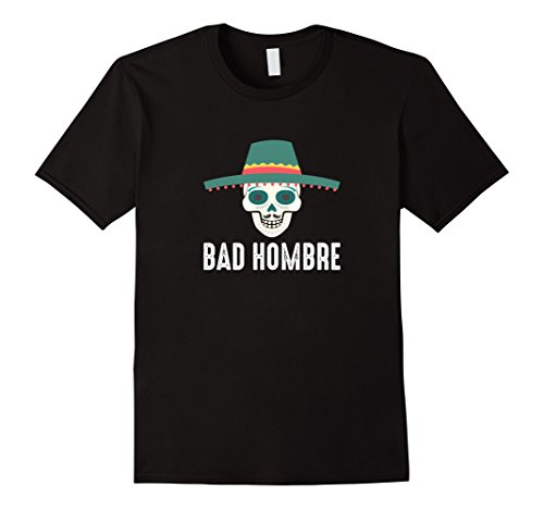 Mens Bad Hombre T-shirt XL Black