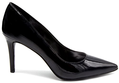 Pointed Sugar Sandal Heel Pump Shoe Fiona Dress Toe Patent Women's Stiletto Black IxfCwx7