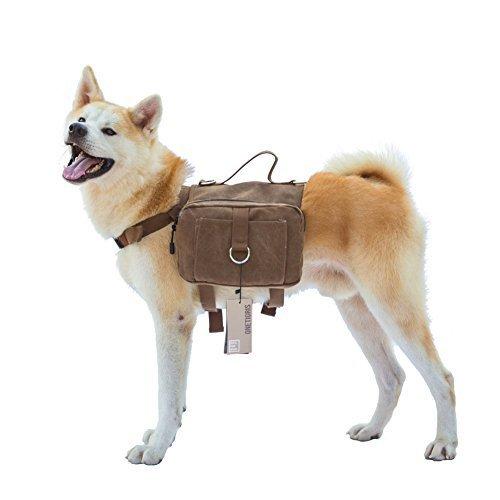 11 opinioni per OneTigris: borsa da sella per cani di taglia media e grande, in tela di cotone,