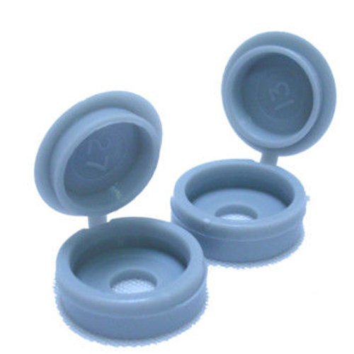 6/8g Dove Grey Hinged One Piece Plastic Screw Cover Caps (Small, 6/8g) by Falcon Workshop Supplies