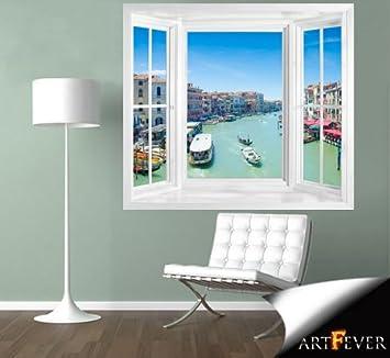 Fototapete fensterrahmen  wim207 - Fenster Ansicht von Venedig Fototapete . Peel und Stick ...