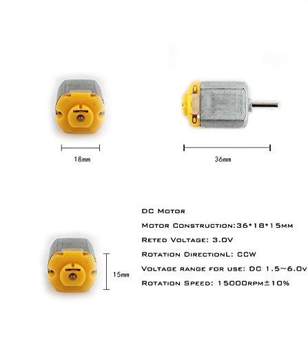 Mini Motor, GIKtech Low Noise DC Motor Mini Electric Motor 1 5V-3V