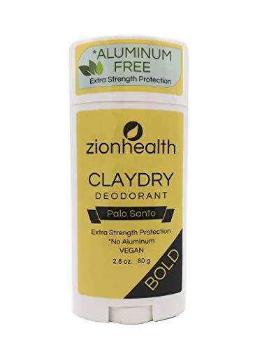 Zion Health Clay Dry Bold Deodorant Stick 2.8 oz Palo Santo