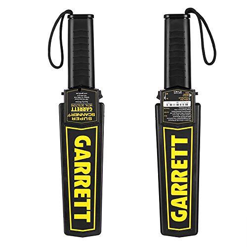 Handheld Metal Detector LED Light Sound Alarm Highly Sensitive 9V Battery: Amazon.es: Jardín