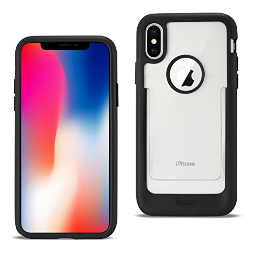 Reiko – iPhone X/iPhone Xs Belt Clip Polymer Case – Clear Black